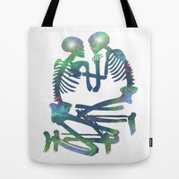 Through Space and Time Tote Bag by Rachel Sample
