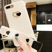 White Strap Phone Case For iPhone  7 7plus 6plus 7plus Back cover Hard nice quality