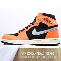 Nike Air Jordan AJ1 high-top cushioning wear-resistant basketball shoes men and women casual all-match sneakers