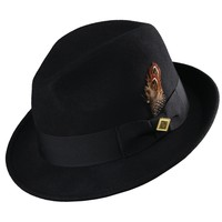 Wool Fedora with Trim by Stacy Adams