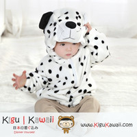 New Dalmatian Baby Toddler Fleece Animal Onesuit Newborn Kigurumi Hoodies