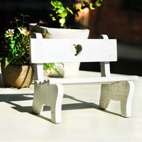 Pastoral Style Wooden White Accessory [6282896774]