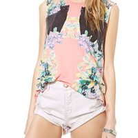 Mirrored Panthers Cropped Muscle Tee
