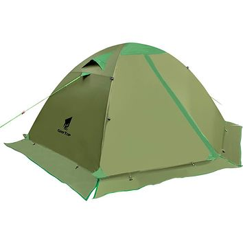GEERTOP Backpacking Tent for 2 Person 4 Season Camping Tent Double Layer Waterproof for Outdoor Hunting, Hiking, Climbing, Travel - Easy Set Up Army Green