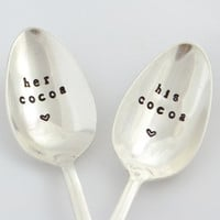 bridal shower gift, his cocoa, her cocoa,  wedding gift idea- Christmas gift idea for couples