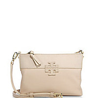 Tory Burch - Stacked T Leather & Suede Crossbody Bag - Saks Fifth Avenue Mobile