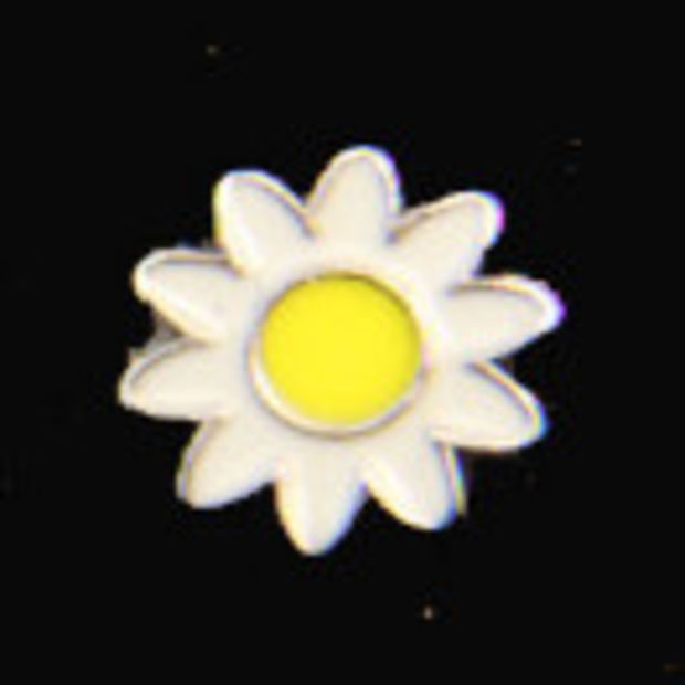DAISY Shape Buttons 15mm Wide FF2B 10 x PALE BLUE Flat Back FLOWER