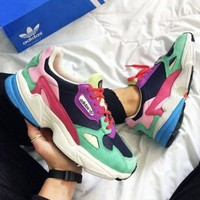 Adidas FALCON New fashion contrast color couple shoes