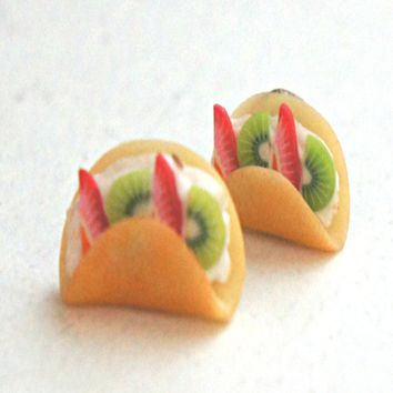 fruit crepe earrings