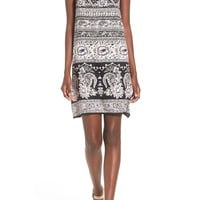 Angie Print Double Strap Shift Dress   Nordstrom