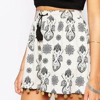 ASOS Elephant Print Shorts with Coin Trim