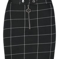 Petite Check Ring Pull A Line Skirt | Boohoo