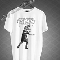 RAPTOR YEEZUS T Shirt Kanye West T-Shirt Men's Women's Black and White