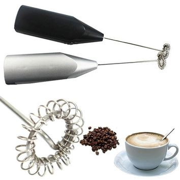 New Coffee Milk Drink Electric Whisk Mixer Frother Foamer Kitchen Egg Beater Electric Mini Handle Mixer Stirrer