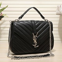 YSL Yves Saint laurent Women Leather Fashion Chain Crossbody Shoulder Bag Satchel
