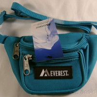 "Children Fanny Waist Pack Turquoise Everest Junior Signature Adjustable 15""-59"""