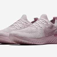 Nike Epic React Flyknit 2018 Pearl Pink Barely Rose Running AQ0067-600