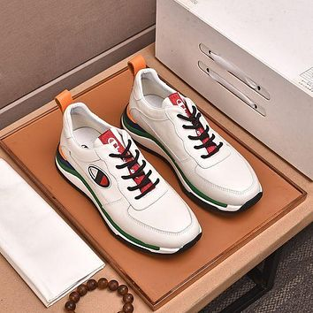 Champion Men Fashion Boots fashionable Casual leather Breathable Sneakers Running Shoes-5