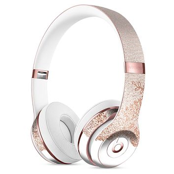 Rose Gold Lace Pattern 9 Full-Body Skin Kit for the Beats by Dre Solo 3 Wireless Headphones