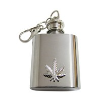 Weed 1 Oz. Stainless Steel Key Chain Flask