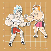 animation rick and morty strong rick and summer Notebook/refrigerator/skateboard/trolley case/backpack/Tables/book PVC sticker