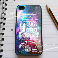 Doctor who cause to effect in nebula galaxy for iPhone 4 / 4S / 5 Case Samsung Galaxy S3 / S4 Case