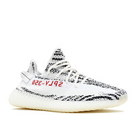 "Adidas Mens Yeezy Boost 350 V2 ""Zebra"" White/Black-Red Fabric Size 10"