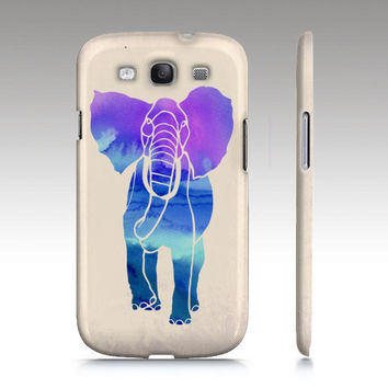 Samsung Galaxy s3 case, Galaxy S4 case,  ombre watercolor elephant painting, animal painting, art for your phone