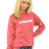Suburban Riot Weekender Sweatshirt in Faded Red | Boutique To You
