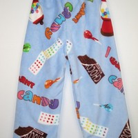 Made with Love and Kisses Lounge Pants - Blue I love Candy Made with Love and Kisses Fuzzy lounge pants [Blue I Love Candy] - $45.00 : Gotta Great Gift