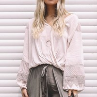 Finally Found Taupe Puff Sleeve Top