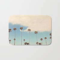 Palm trees Bath Mat by sylviacookphotography