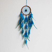 Dream Catcher for Nursery Decor or Bedroom Decor, Turquoise Dreamcaatcher, Bohemian Decoration, Blue Dream Catcher, Black Dreamcatcher