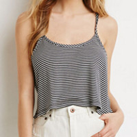 Black and White Crop Tank Top