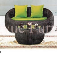 Outdoor rattan sofa set furniture with cushion and pillows sale