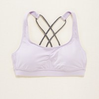 AERIE LIGHTLY LINED STRAPPY SPORTS BRA