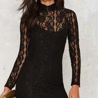 About Lace Bodycon Dress