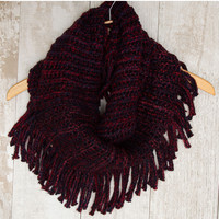 Happy Together Infinity Scarf - Burgundy