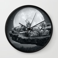 Echoes of a Lullaby Wall Clock by Soaring Anchor Designs | Society6