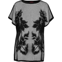 River Island Girls black lace caftan cover up