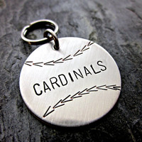 Baseball Keychain - Hand Stamped Stainless Steel - Little League - MLB - Favorite Team