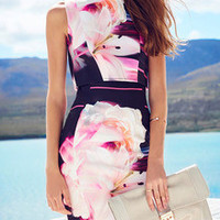 Floral Dress Spring - Multicolor Sleeveless Floral Dress
