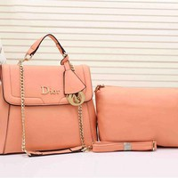 Dior Women Two piece Bag With Metal Chain Crossbody Satchel Shoulder Bag H-YJBD-2H
