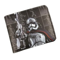 Hot Comics Wallets Star Wars Movies Purse Starwar Characters Dollar Bags Gift Teenager Leather Short Wallet Men with Coin Pocket