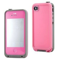 GEARONIC Pink Waterproof Shockproof Full Body Skin Case Cover Pouch for iPhone 4 4S 4G, Multi Purpose Protective Skin for water, shock, snow