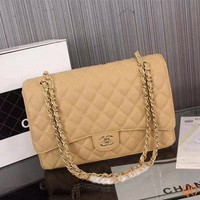 Fashion Pop 1119 Maxi Classic Embossing Chain Flap Bag Casual Quilted Bag 33-22-10cm
