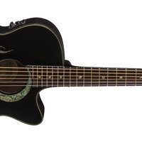Fauna folk, Abalone Koi on black | Luna Guitars