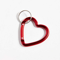 Bison Designs Mini Heart Carabiner Clip Keychain   Urban Outfitters