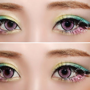 EOS New Adult Blytheye Pink Circle Lens Cosmetic Big Eye Colored Contacts Lenses | EyeCandy's