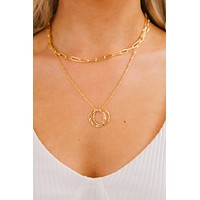 Weekend Mindset Layered Necklace (Gold)